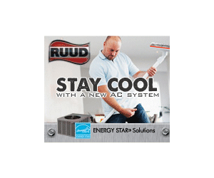 Ruud keeps you cool in the summer and warm in the winter.