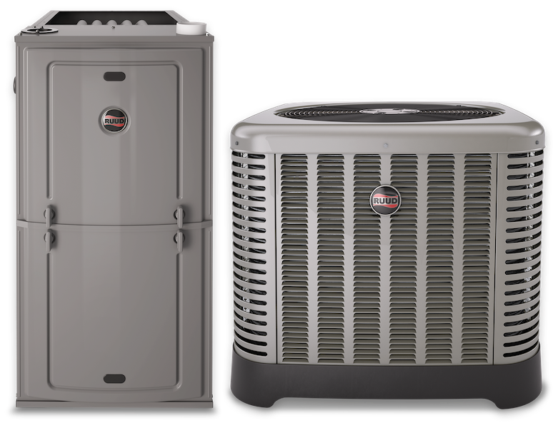 Ruud Achiever Series equipment, Furnace and Condenser