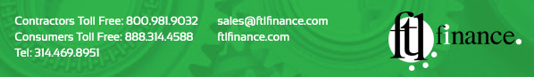 We offer financing through FTL Finance